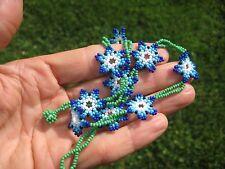 Huichol Bead Indian Necklace Jewelry Art Hand Made Guadalajara Mexico A21