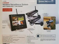 Bunker hill wireless security system With 2 Waterproof/ Night Vision Cameras