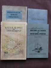Lot of 4 Vintage WATER TREATMENT MANUALS  from 1935-1941-1942 & ?
