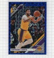 2019-20 Anthony Davis Panini Optic Blue Velocity Prizm #90 Lakers Card