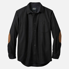 Pendleton Elbow Patch Trail Shirt Wool Black Flannel Sz Small NWOT