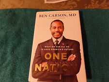 Dr. Ben Carson  autographed hard cover book One Nation  JSA Certified