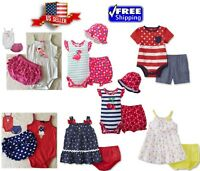 Baby Summer Outfits Jumpsuit, Romper, Bodysuit, Girls Dress Clothing Sets NEW
