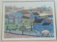 Barbara Steele Limited Edition Print 1984 Signed 101/450 Matted & Framed Folkart
