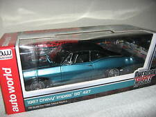 1967 CHEVY IMPALA SS427 HEMMINGS MUSCLE MACHINES COVER CAR AUTO WORLD ERTL 1:18