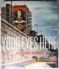 RARE SHEPARD FAIREY YOUR EYES HERE 2015 EXHIBITION CATALOG 1/1 LARGE HC NEW OOP