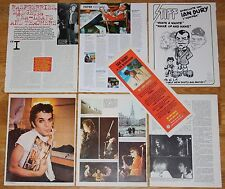 IAN DURY clippings 1970s/00s photos magazine articles cuttings the blockheads