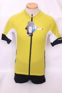 New Louis Garneau Men's Carbon Jersey Cycling Bike Small Short Sleeve Yellow