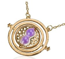 collier pendentif Harry Potter sablier retourneur de temps Hemione sable violet