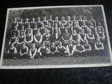 Old real photograph postcard school girls by Hill & Saunders at Eton c1930s