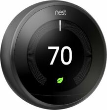 Nest Learning Thermostat 3rd Gen in Mirror Black by Google- BRAND NEW SEALED BOX