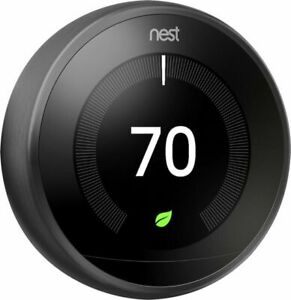 Google Nest T3018US 3rd Generation Programmable Thermostat - Mirror Black