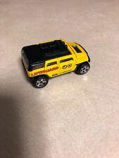 Yellow Lifeguard Hummer Rockster Hot Wheels Loose Diecast Car