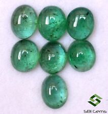 4.44 Cts Natural Emerald Oval Cabochon 6x5 mm Lot 7 Pcs Untreated Loose Gemstone
