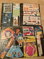 Vintage Misc Walt Disney Character Happy Birthday Banner Mickey's Guitar Tags