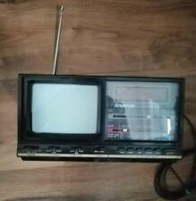 ancienne radio tv reveil ecran lcd  strachan tv clock radio vintage 80'S et 90'S