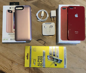 Used Apple iPhone 8 Plus - 64GB - Red (Unlocked) Excellent Condition With Extras