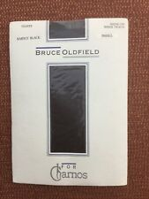 Vintage Bruce Oldfield For Charnos Shine On Sheer Tights, Barely Black, S, BNWT