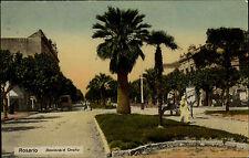 Rosario Argentinien Argentina AK 1910 Boulevard Oroño Straßenpartie Frankatur