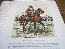 Deutsches Militär archiv 1 Das Militär Bayern I Kurfürst Max Emanuel 1700-1726