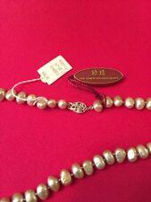 16 inch Zhen Zhu white cultured pearl necklace