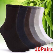 10 Pares de Calcetines Medias de fibra de bambú Hombre Corto Calcetines Medias 4 Colores