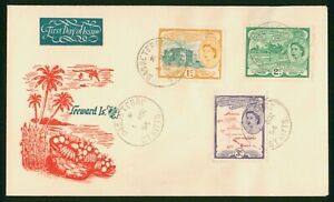 Mayfairstamps St Kitts 1954 Basseterre Leeward Islands Tri Frank first Day Cover
