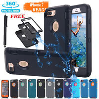Combo Rugged Hybrid Hard Cover Shockproof Heavy Duty Case fr iPhone 5s 6s 7 Plus