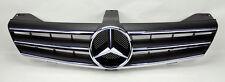 Mercedes CLS Class W219 05-08 3 Fin Front Hood Sport Matte Black Chrome Grill