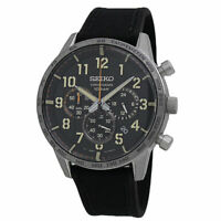 Seiko Essentials Chronograph Black Dial Men's Watch SSB367