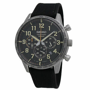 Seiko Essentials Chronograph Black Dial Men's Watch SSB367