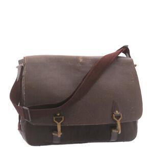 LOUIS VUITTON Taiga Delsous Shoulder Bag Acajou M30166 LV Auth yt561