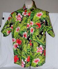 Mens English Sports Shop Bermuda 100% Cotton Hawaiian  Button Down Shirt L NWOT