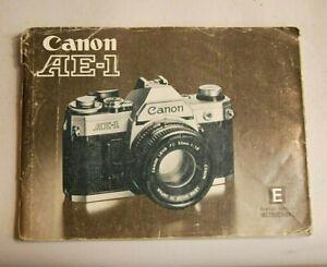Canon AE-1 Film SLR instruction book