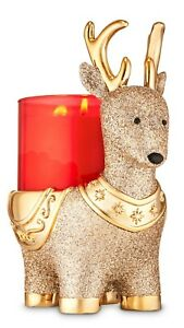Reindeer Pedestal 3 Wick Candle Holder By Bath And Body Works *2019* NEW