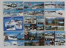Postkarten Lot Schweiz 9x AROSA Kanton Graubünden color mit Helvetia Briefmarken
