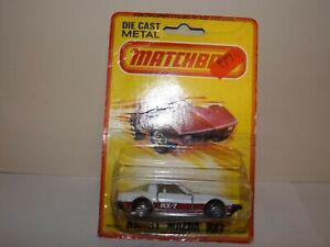 MATCHBOX S/F NO.31-D MAZDA RX-7 WHITE BODY, SAVANNA RX7 BASE,MALTESE MIBLISTER