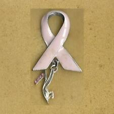 BREAST CANCER PINK RIBBON WITH SHOE PIN