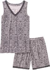 Damen Schlafanzug kurz 44 46 48 50 52 54 56 58 L XL 2XL Shorty Pyjama  645