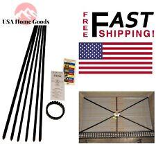 Black Quick-Pitch Standard Shower Kit High Impact Plastic Tapered Float Sticks