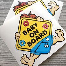 2pcs Baby on Board BOY Car Vinyl Sticker Decal