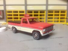 1/64 69 Ford F100 Short Bed P.U. in Satin Red/White/Red Int with a 390 V8 Auto