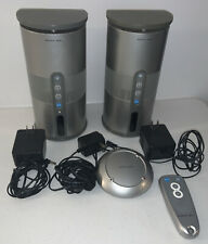 2 Sharper Image CT413 Wireless Speakers With 2 Power Cables +++