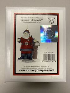 Georgia Bulldogs Welcome Home Santa Christmas Ornament Memory Co. 6th In Limited