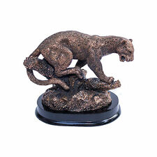 impressive gorgeous roaring Leopard figurine,bronze home decor! powerful statue