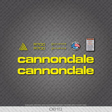 0610 Yellow Cannondale R700 Bicycle Stickers - Decals - Transfers