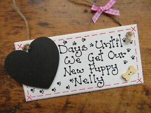Personalised Pet Countdown Days Until We Get Our Puppy Kitten Plaque Sign Gift