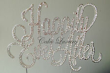 Wedding Cake Topper -  Crystal Diamonte Rhinestone - Happily Ever After