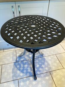 Black Cast Bistro Table 70cms in diameter