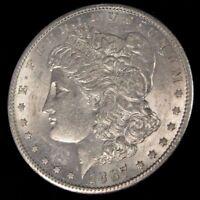 1887 S MORGAN SILVER DOLLAR! RARE KEY DATE! US MINT GEM PQ SILVER COIN UNC++!